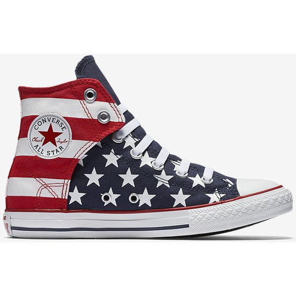1bde3bc664da Converse Chuck Taylor All Star American Flag High Top (10.5c-6y)... ( 40) ❤  liked on Polyvore featuring shoes