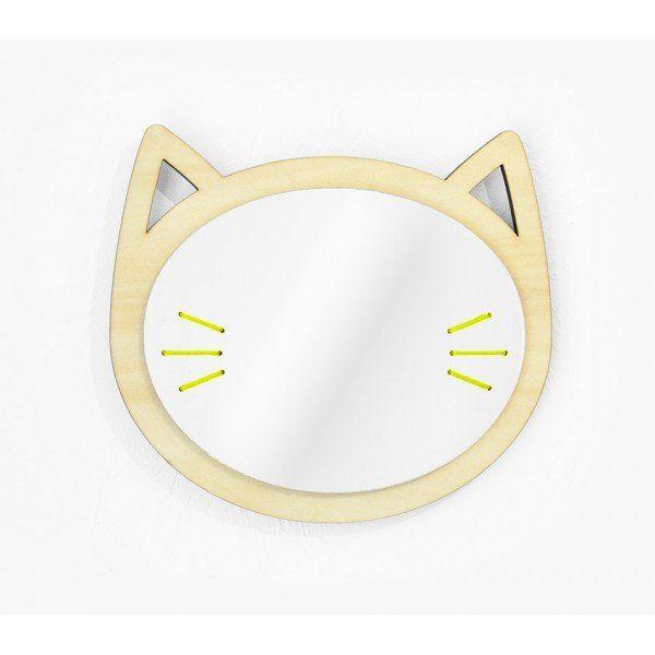 Les Petites Decoupes miroir tête de chat en bois les petites découpes – hariet & rosie