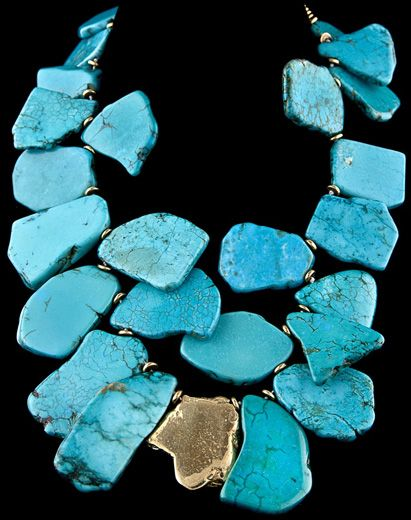 SLEEPING BEAUTY BLUE TURQUOISE NECKLACE  Gabrielle Vallarino