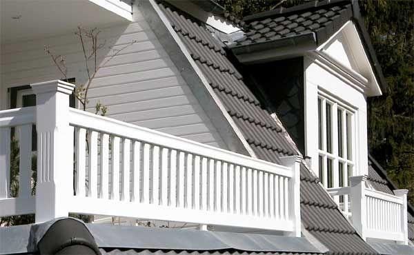Geländer mit Staketten Terrasse Pinterest - terrassen gelander design