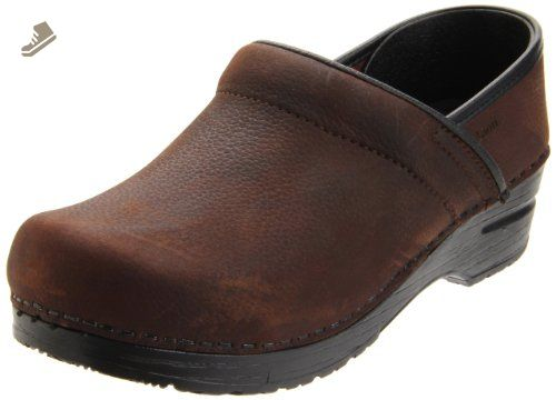 Sanita Chrissy open, Damen Clogs, Braun (Antique Brown 78), 39 EU