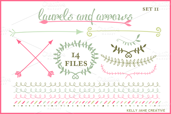 great ideas for flourishes. Wreaths Arrows & Laurels ...