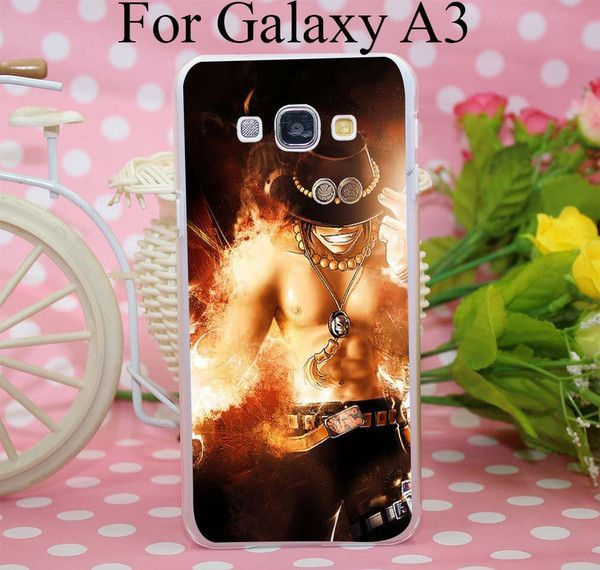 One Piece Portgas Case Cover for Smasung Galaxy S5 Mini A3 A5 A7 A8 Note 2 3 4 5