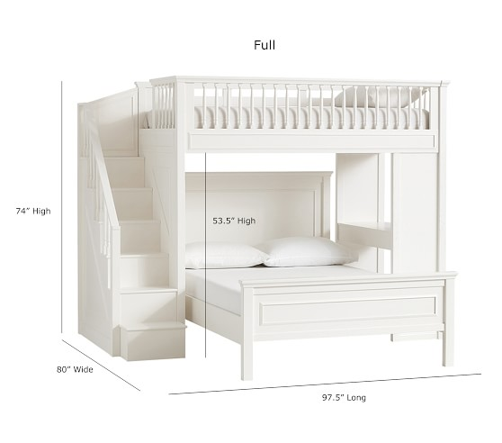 Fillmore Stair Loft Bed 38 Lower Bed Set With Images Bunk Bed Rooms Bed For Girls Room Bunk Beds With Stairs