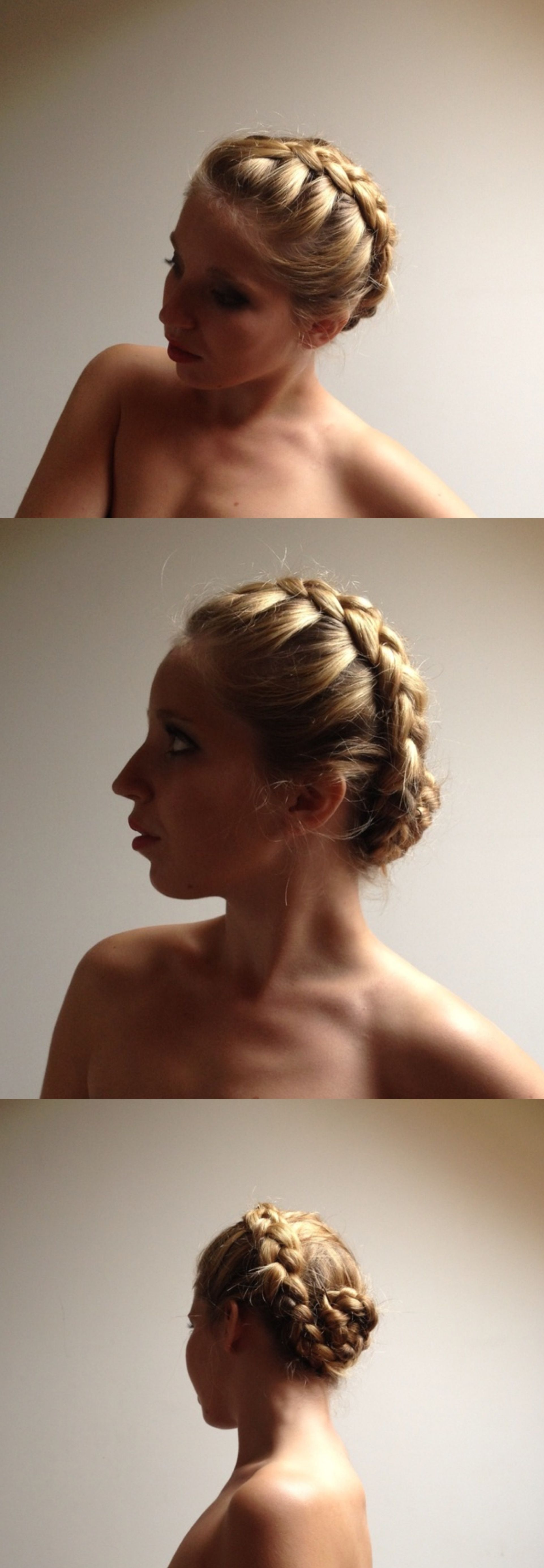 Braided knot hairstyle easy and fun to do for long hair