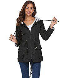 UNibelle Waterproof Lightweight Rain Jacket Active Outdoor Hooded Raincoat for Women