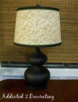 How To Cover A Lampshade With Fabric Cover Lampshade Small Lamp