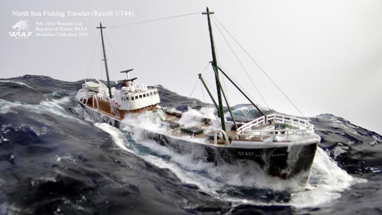 1 144 north sea fishing trawler model ship gallery for How to ship fish