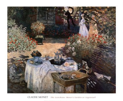 The Luncheon: Monet's Garden at Argenteuil Art Print at AllPosters.com