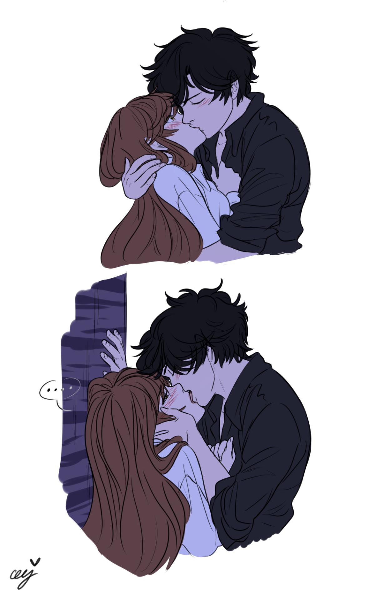 Ceejles I M Not Done With The Dizziness Jeez Jumin Anime Kiss Anime Couple Kiss Mystic Messenger