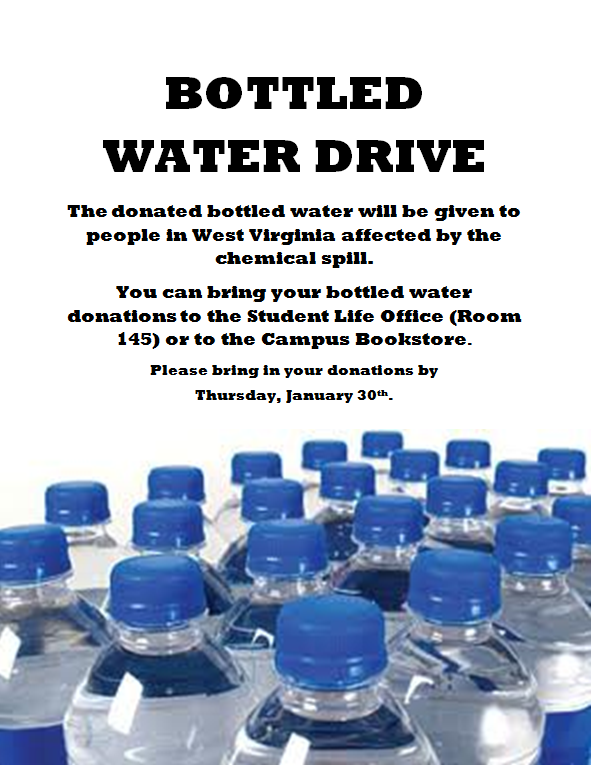 Bottled Water Drive Flyer Template Bruceianwilliams