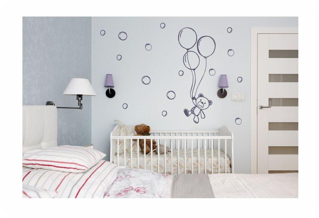 83a40b0fb97 Μικρό Αρκουδάκι με Μπαλόνια - Παιδικό & Βρεφικό Δωμάτιο - Αυτοκόλλητα Τοίχου