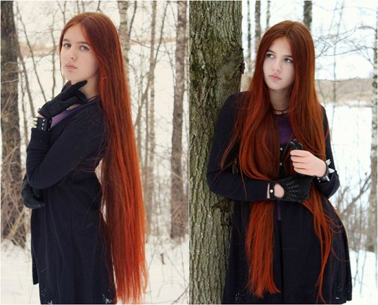 Styles For Hair Extensions: Long Hairstyles For Girls With Orange Hair Extension Clip