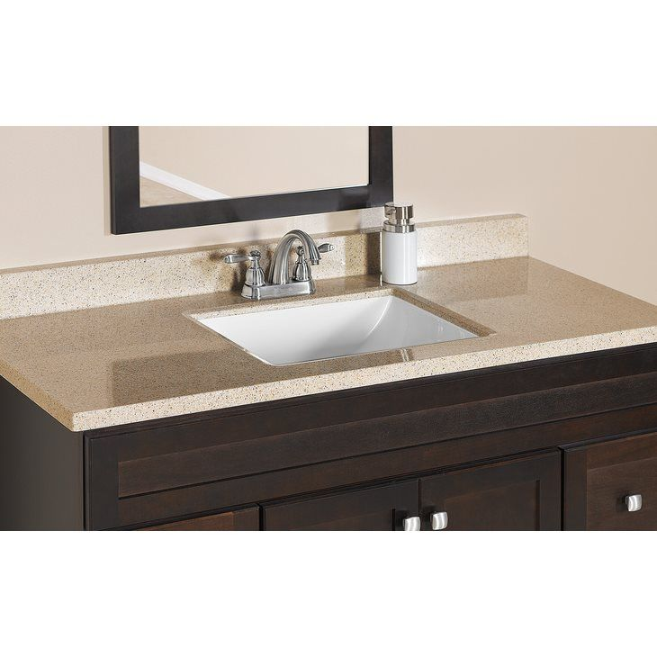 Estate Bath By Rsi Square Bowl Dune Cultured Marble Vanity Top At Lowe S Canada Find Our Selection Of Tops The Lowest Price