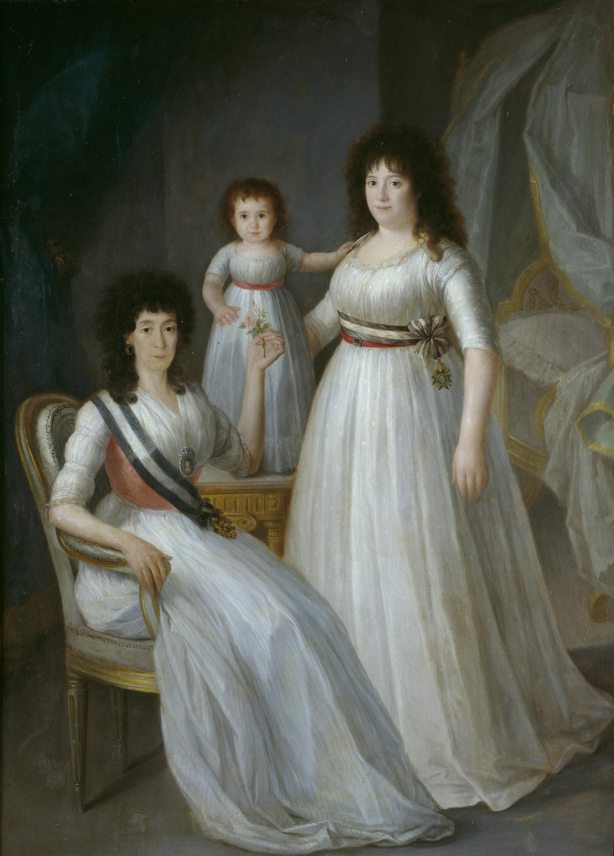 La duquesa de Osuna como Dama de la Orden de María Luisa