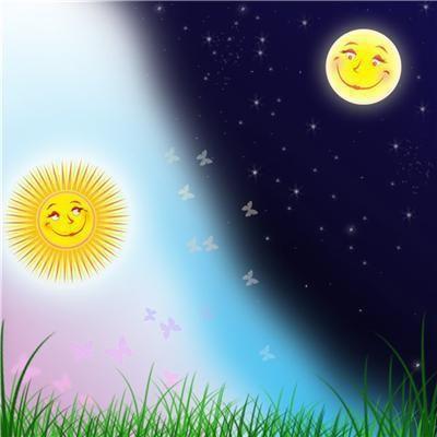 Рисунок сказочное объяснение смены дня и ночи