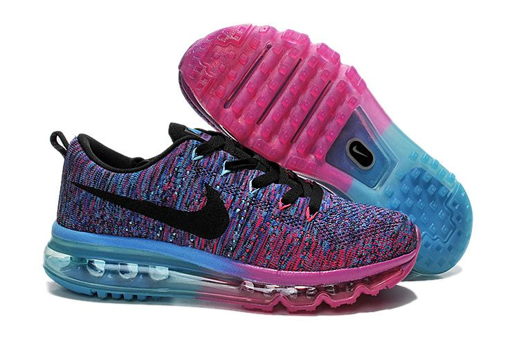 womens nike flynit air max pink purple