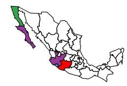 Visited Mexican States Map by epgSoft! Hopefully I can travel more Mexican States in the near future! There is nothing like Mexico!