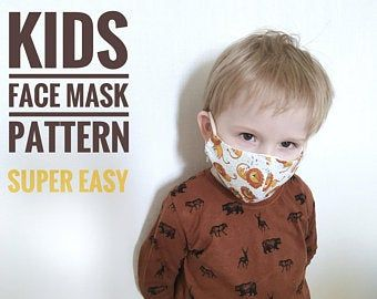 Photo of Easy face mask pattern PDF, Sewing face mask for protection, Face mask tutorial, Reusable face mask, Digital instant download