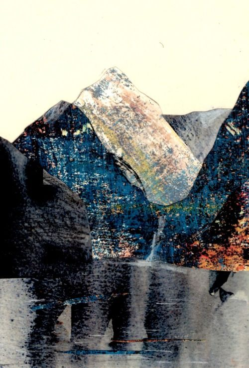 Mountain Landscapes. Collages.