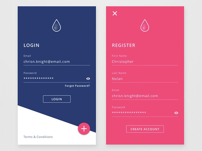 50 Mobile Login and Signup Forms For Your Inspiration