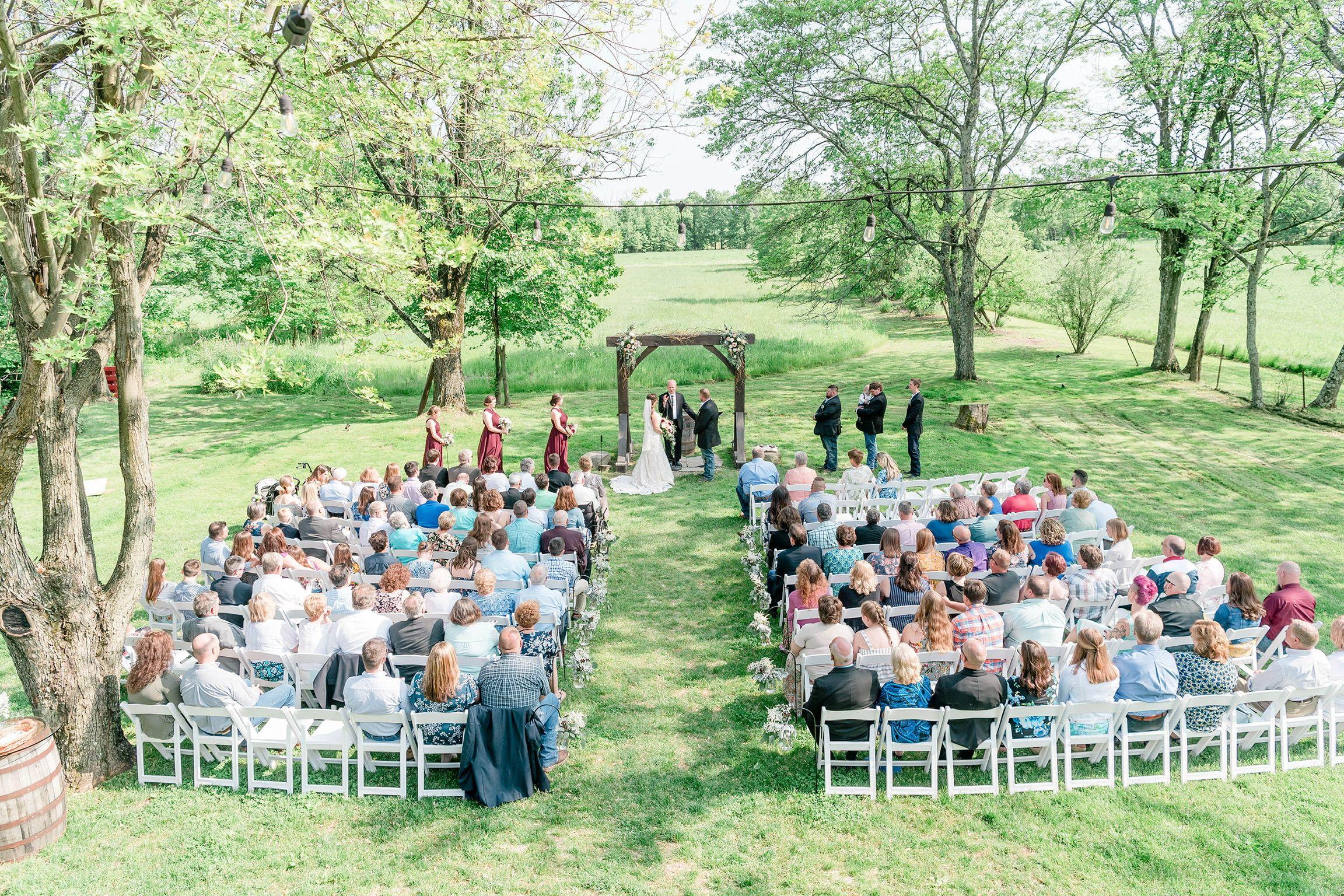 Rustic Chic Country Barn Wedding Venue Outdoor Summer