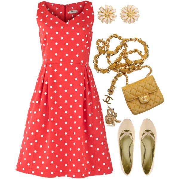 summer! polka dot dress, vintage, chanel