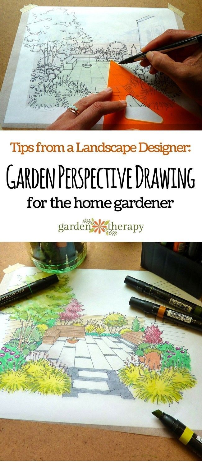 Garden Perspective Drawing Is Method That Anyone Can Learn To Draw A Home For Fun Or Make Plan Future Plantings These Tips From Landscape