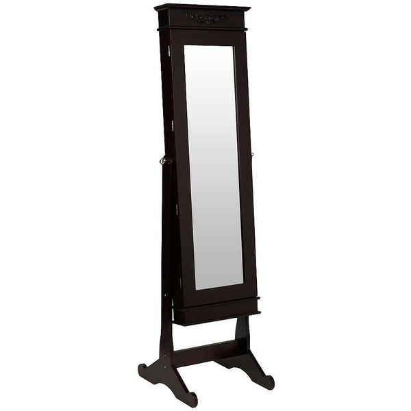 Cherry Cheval LED Jewelry Armoire Mirror 265 CAD liked on