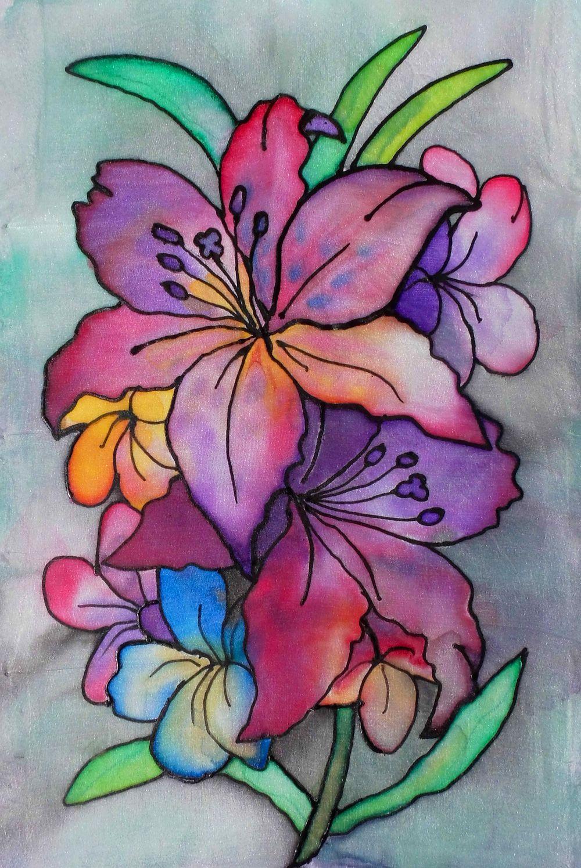 Malowanie Na Jedwabiu Kwiaty Malgorzata Jasklowska Flower Art