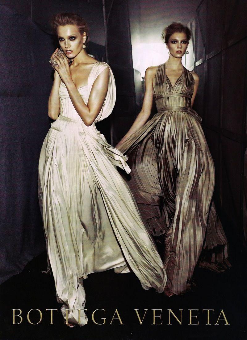 Anna Maria Jagodzinska and Sigrid Agren by Steven Meisel for Bottega Veneta F/W 2009-10