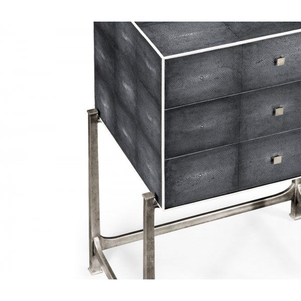 Buy Grey Art Deco High Chest of Drawers | Swanky Interiors