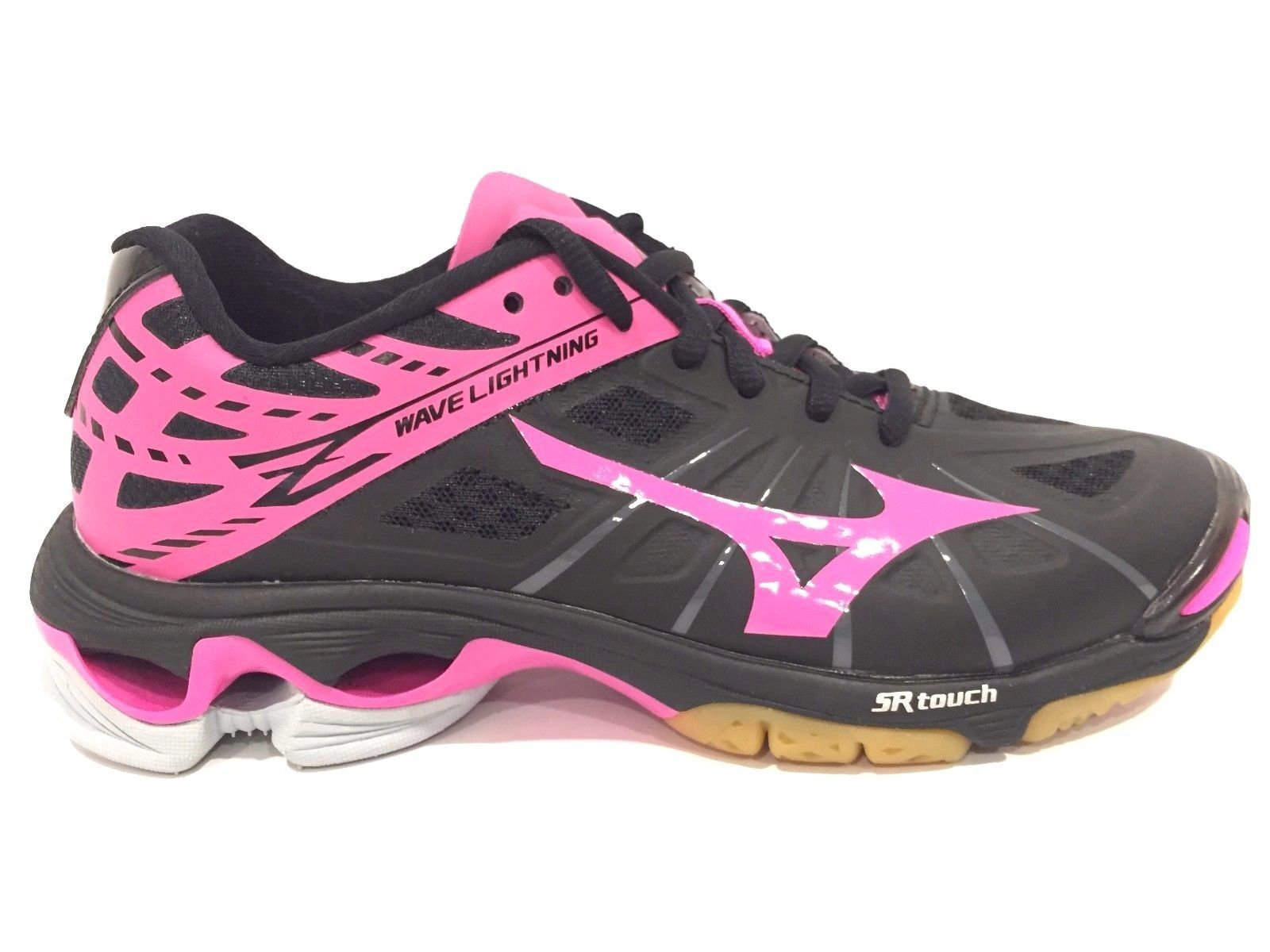 ed6a634be0476 Details about Mizuno Women's Wave Lightning Z WOMS BK-PK Volleyball ...