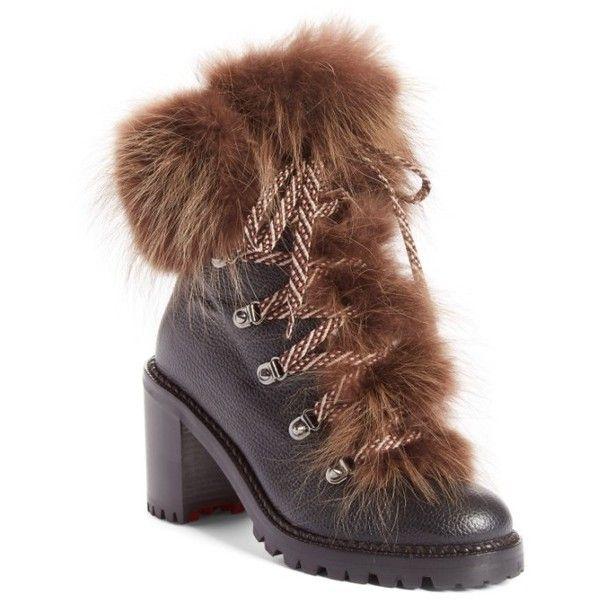 Christian LouboutinWomen's Fanny Genuine Fur Boot