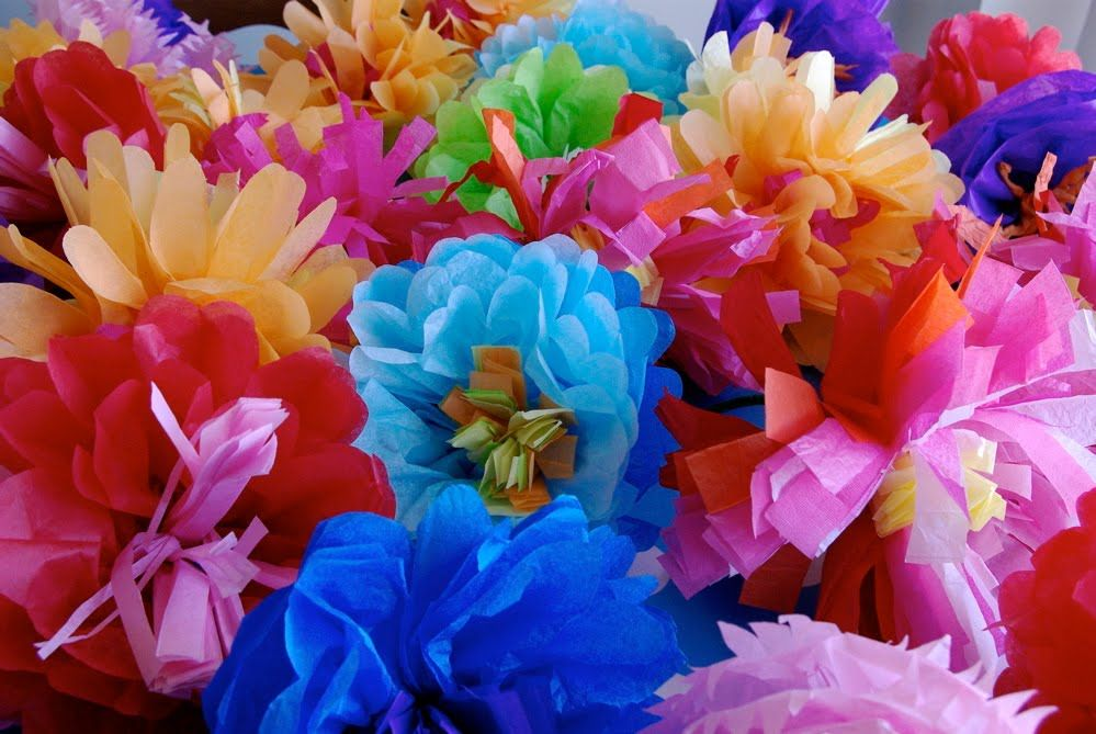 31 Crafty Flowers Day One Mexican Tissue Paper Flowers Global