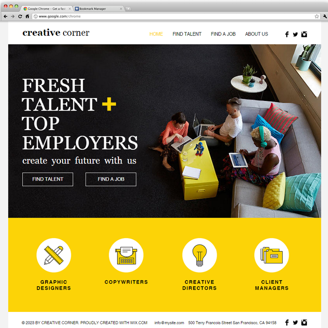 Creative Staffing Agency   Wix Website Templates   Free