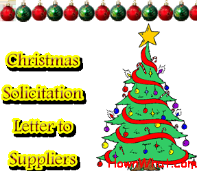Example Of Writing Christmas Solicitation Letter To Suppliers