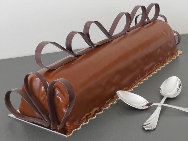 Buche de noel poire chocolat noir thermomix