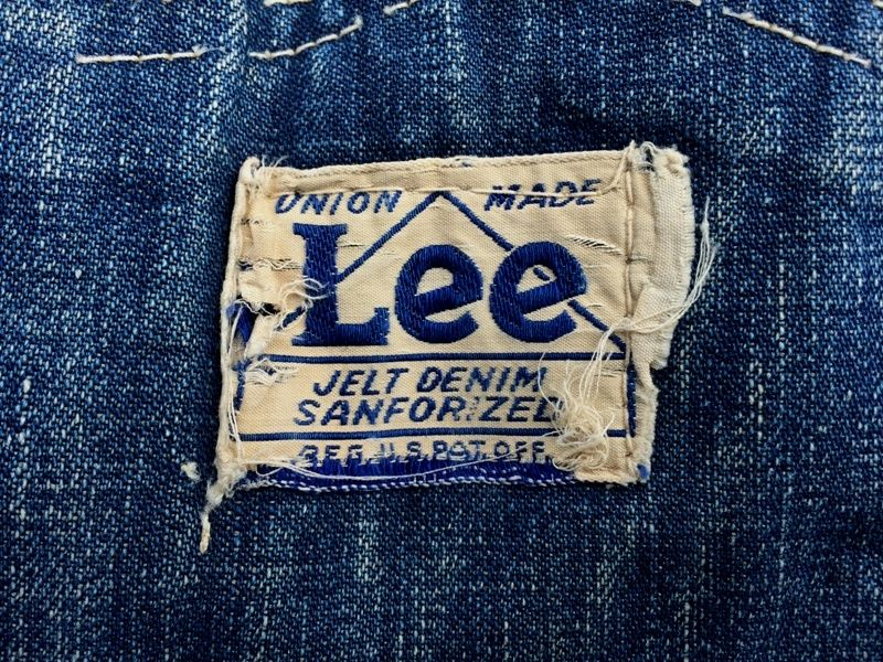 LEE UNION ALL DUNGAREES jeans denim vintage long john blog raw authentic faded blue overall martijn te riele selvage selvedge white plain laurer leafs button damaged worn-out amsterdam private collection (9)
