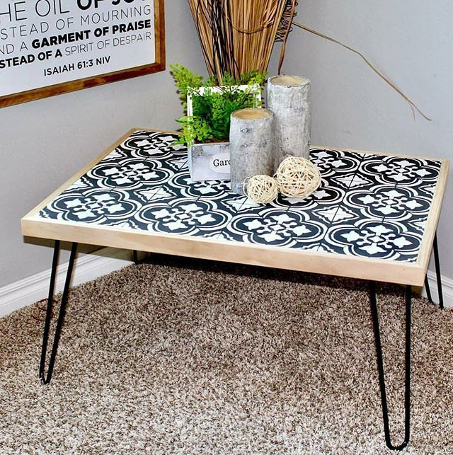 Patio Furniture Repair Santa Ana Ca: Black & White Coffee Table
