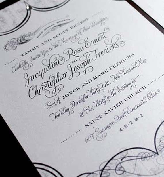 Best Letter Press Happy New Year Wedding Invitations Designs Ideas - best of wedding invitation design fonts