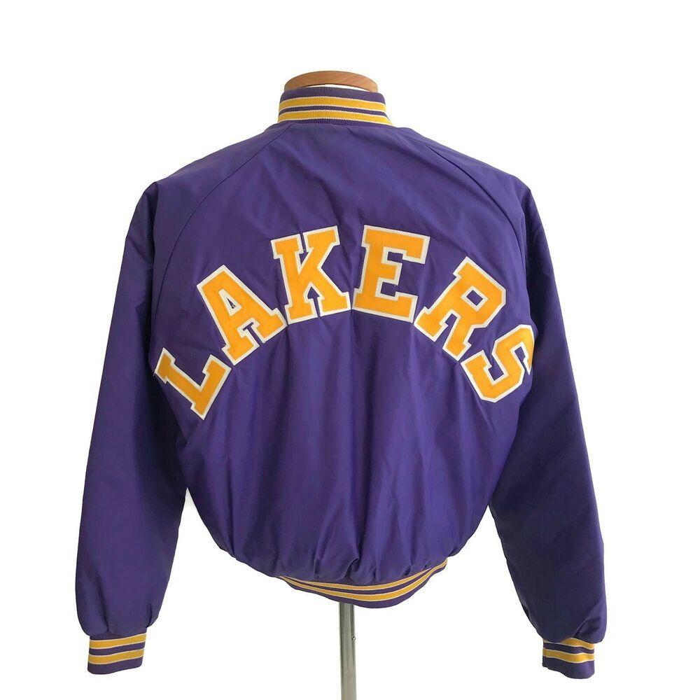 Vintage 1980s 1990s La Los Angeles Lakers Chalk Line Men S Purple Sewn Jacket Xl Chalkline Losangeleslake In 2020 Los Angeles Lakers La Los Angeles Los Angeles Style