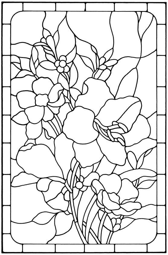 Floral Stained Glass Pattern Book | Interests and Misc. | Pinterest ...