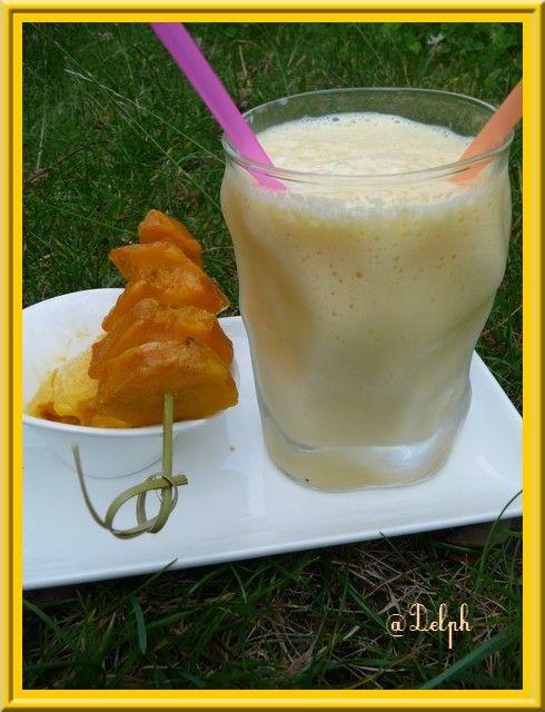 Dessert glacé à la mangue  #Glace #Mangue