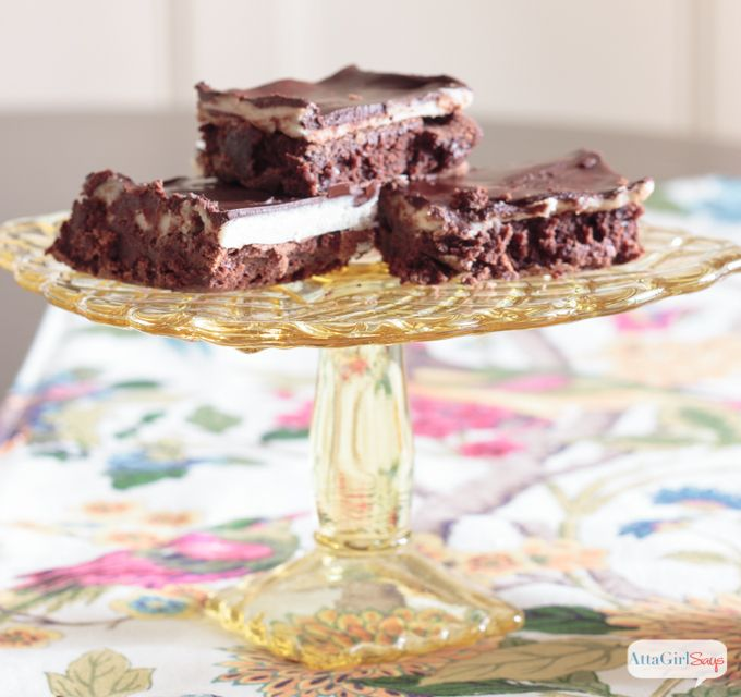 Layered Chocolate Brownie Recipe with Browned Buttercream Filling   Atta Girl Says - Featured at the #HomeMattersParty 55