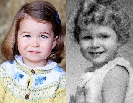 Does Princess Charlotte Look Like Queen Elizabeth Ii S Mini Me See All Of The Royal Comparisons