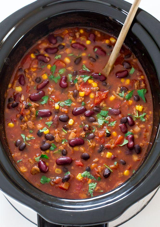 Slow Cooker Turkey Chili | Recipe | Chili recipes, Turkey ...