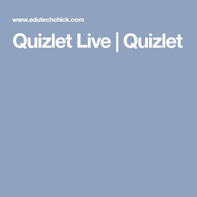 Quizlet Live | Quizlet | Tips, School, Study