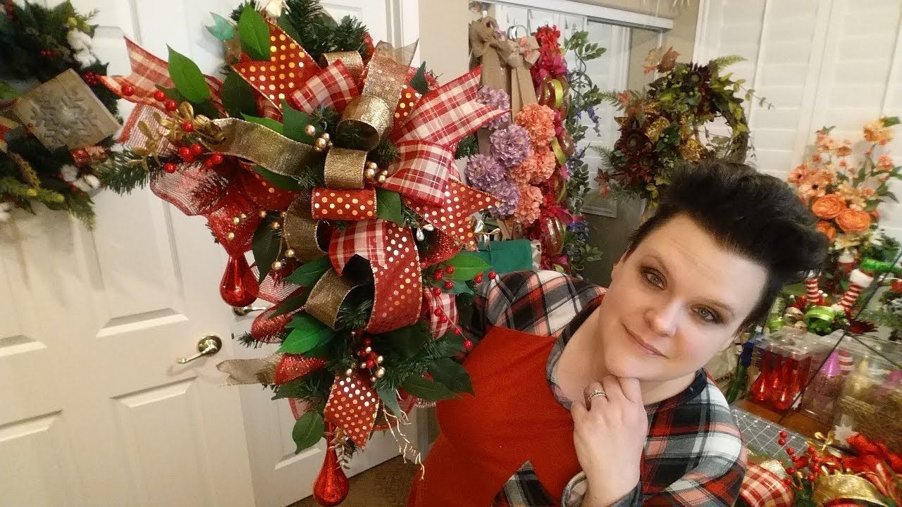 Youtube Christmas Craft Ideas Part - 41: Christmas Door Frame Swag - YouTube