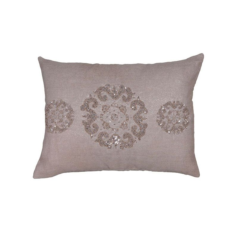 Sequin Motive Linen Cushion Cover - Casafina